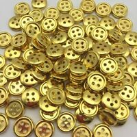 20 Bouton rond 10 mm 4 trou doré or Scrapbooking Mercerie couture décoration