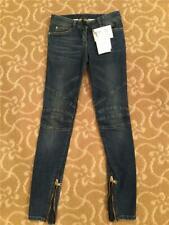 2c5726d8 Balmain Women Blue Stretch Biker Skinny Jeans Size 34 NWT