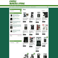FULLY STOCKED COFFEE MAKERS WEBSITE - UK AFFILIATE - 1 YEARS HOSTING + DOMAIN