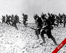 GERMAN INFANTRY ADVANCING 1914 WORLD WAR 1 WWI II PHOTO REAL CANVASART PRINT