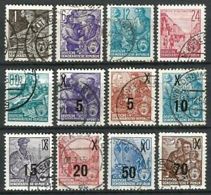 Germany (East) GDR DDR (1953-1957) - Selection Used Stamps 5-Yr Plan #13