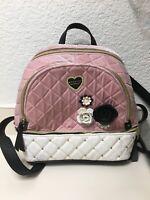 Betsey Johnson Backpack  Velvet, Faux Leather , Floral. Zip nwot