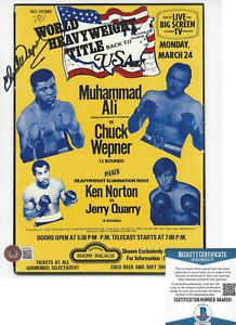BOXER CHUCK WEPNER SIGNED 8x10 PHOTO ROCKY MUHAMMAD ALI FIGHTER BECKETT COA