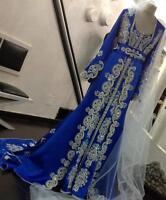 MOROCCAN DUBAI KAFTAN MAXI THOBE LADIES MAXI DRESS ABAYA WEDDING GOWN 4407