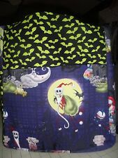 nightmare before christmas jack sally bats large purse/tote/diaper bag handmade