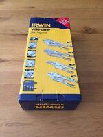 Irwin 4 Piece Vise Grip Set. 5WR, 6LN, 7R, 10CR + Holder. Locking Pliers