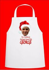 George Clooney Novelty Christmas Chefs Apron Secret Santa Gift Novelty Apron