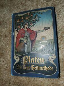 1899 Antique Medical Books German Platen Die Neue Heilmethode Supplement