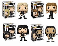 Funko METALLICA Pop James Hetfield Lars Ulrich Kirk Hammett Robert Trujillo MINT