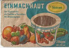historische Einmachhaut Marke Varesa (ca. 1950-60)