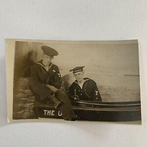 Antique RPPC Real Photograph Postcard Navy Handsome Sailors Coney Island Gay Int