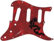 Stratocaster Pickguard Custom Fender SSS 11 Hole Guitar Pick Guard Dragon 1