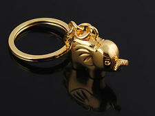 Hj Gold Elephant Alloy Keyring Creative Pendant Key Bag Chain Valentine Gift