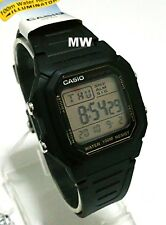 Authentic Casio W800HG-9AV MEns Kids Black Resin 100M Snooze Alarm Digital Watch
