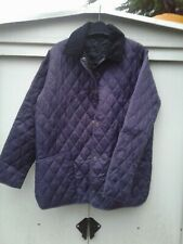 Ladies Purple BARBOUR Quilted Jacket Size 14