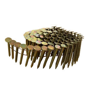 meite 15 Degree Round Head 1-1/2'' ×.120'' Wire Smooth Shank Coil Roofing Nails