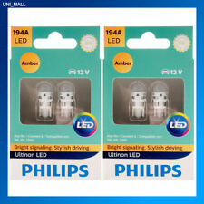 4x Philips Genuine NEW Ultinon 194AULAX2 194 AMBER LED Bulb T10 158 168 12961