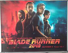 Cinema Poster: BLADE RUNNER 2049 2017 (Main Quad) Harrison Ford Ryan Gosling