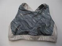 JOY LAB Women's Size M Crossback Padded Gray Silver Midi Crop Running Sports Bra