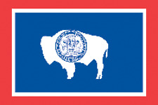 Rumbling Pride Wyoming Flag 6X9 Made In Usa