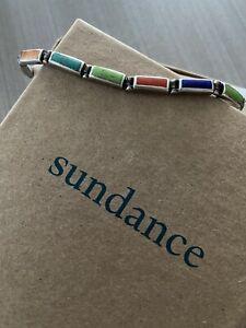 Turquoise Coral Lapis Sterling Silver Bracelet Gemstones Sundance Catalog
