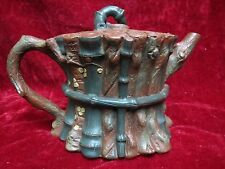 """Excellent  Artistic Chinese Old YiXing ZiSha Pottery """"Stock"""" Teapot"""