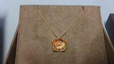 "Welsh Clogau 9ct Yellow & Rose Gold Buttercup Pendant 21"" Chain RRP £440"