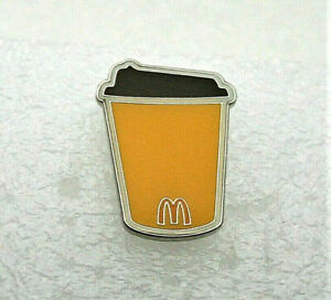 McDonald's McCafe Coffee Cup Fast Food Employee Promo Pin NOS New 2019