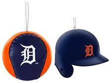New Licensed Detroit Tigers Christmas Ornament 2 Pack Helmet Baseball _____B92