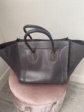 Celine Phantom Style Luggage Tote Taupe Grey Large Bag