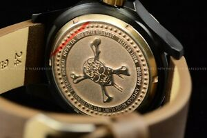 Invicta 48mm Disney Pirate's of the Caribbean Automatic Antique Bronze LE Watch