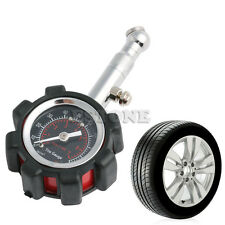 Motor Car Truck Bike Tyre Tire Air Pressure Gauge Dial Meter Tester 0-100 PSI