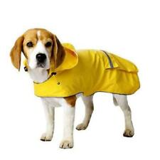 Old Navy Dog Supply Company Yellow Reflective Trim Rain Jacket Slicker w/ Hood