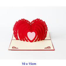 3D Pop Up Greeting Cards LOVE Wedding Birthday Valentines Anniversary Soulmate