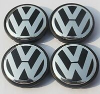 Volkswagen VW Centre Caps for Alloy Wheels Set of 4 x 76mm TOUAREG CRAFTER