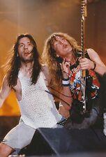 Janick Gers Hand Signed 12x8 Photo Iron Maiden Very Rare 1.