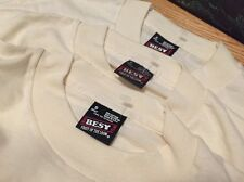 Lot 3 Vintage Best Fruit Of The Loom 50/50% Cotton/ Poly T Shirt. Size S Adult