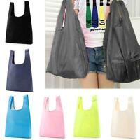 1PCS Wiederverwendbare Taschen Faltbare Einkaufstaschen Groß Taschen Tote E2W2