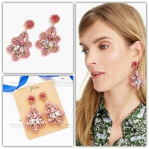 J.CREW Crystal and Acetate Statement Earrings - Pink | NWT Gift