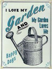 New 20x30cm I Love My Garden gardening retro medium metal advertising sign