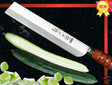 "Handmade VG10 Steel Vegetable Long Nakiri Knife 7.8"" Slicer Kitchen Cutlery"
