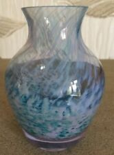 Vase Blue Vintage Original Art Glass