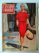 L'echo de la mode n° 24 année 1962; Mode Plage / Cuisine/ Ouvrage