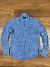 Henry Lloyd Mens Checked Casual Cotton Long Sleeve Collared Shirt Size UK Small
