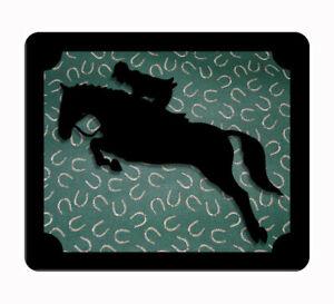 Custom Hunter  equestrian horse green& black computer, laptop,iPad,  mouse pad
