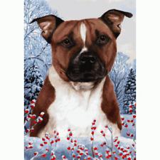 Winter House Flag - Pit Bull Terrier 15254