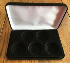 BLACK VELVET FIVE (5) COIN STORAGE/ DISPLAY CASE WITH SLEEVE  - USED