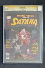 MARVEL PREVIEW #7 CGC 7.5 STAN LEE SS 1ST ROCKET RACCOON GUARDIANS OF GALAXY 1