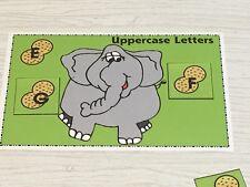 Elephant's Peanut Sort - Uppercase Lowercase -Laminated Activity Set