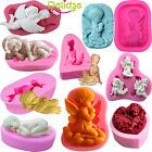 Angel baby Silicone Fondant Mold Soap Craft Chocolate Candy Cake Decor Baking